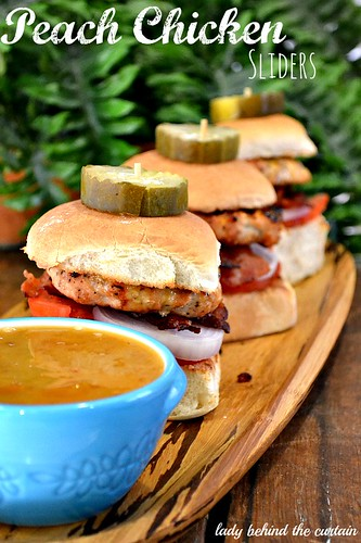 Peach Chicken Sliders