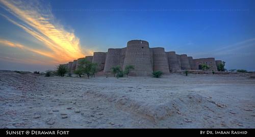 pakistan sunset panorama architecture wideangle historical punjab bahawalpur derawarfort imranrashid deranawabsahab