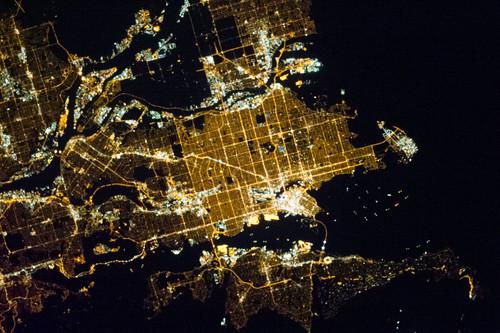 Vancouver at Night (NASA, International Space Station, 03/31/13)