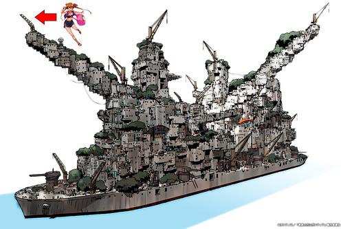 130610(1) – 科幻動畫《翠星のガルガンティア》(翠星上的加爾岡緹亞)第9話<深海的秘密>:設定補完共12項,官方twitter告訴你! 2