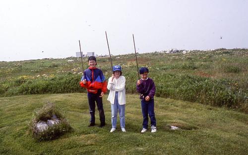 The kids on Machias Seal Island