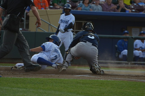 Anthony Seratelli sliding past a tag for what would be the team's only run for a long, long time.
