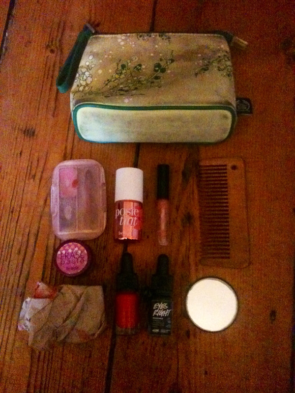 Make up bag and contents