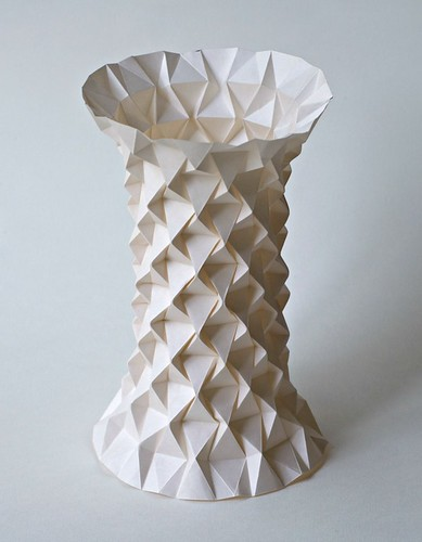tessellated concrete vase