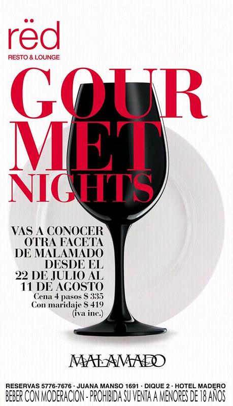 Gourmet Nights en rëd con Malamado