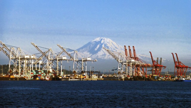 Mt. Rainier Over Harbor Island