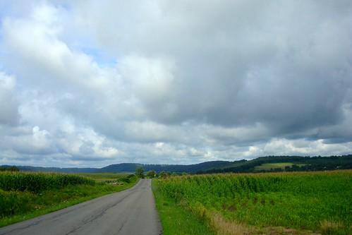 clouds corn farm hills onondagany