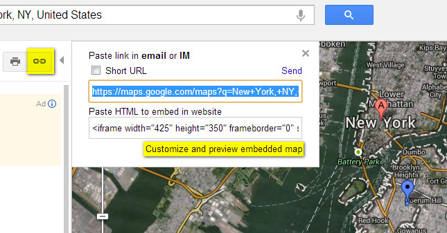 how to embed Google maps in wordpress