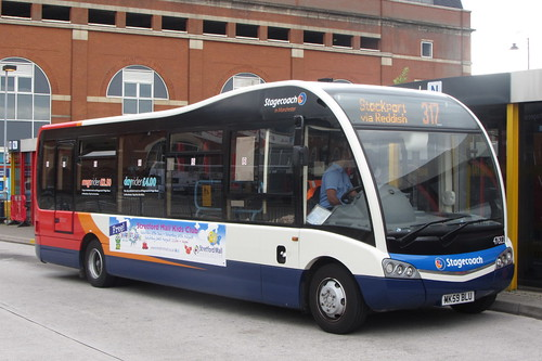 Optare Solo MK59 BLU, Stagecoach Manchester, Ashton-under-Lyne bus station