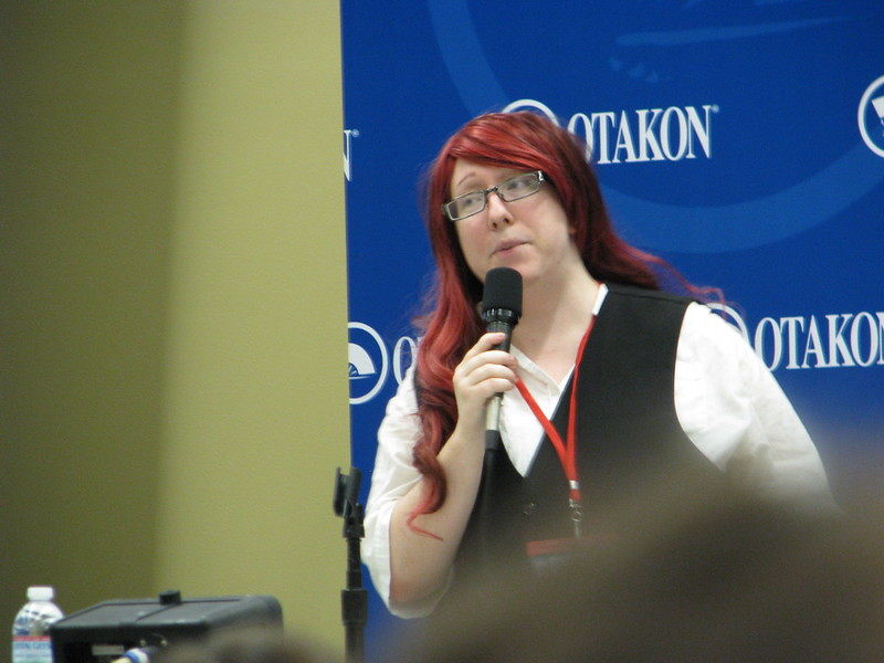 "Katriel Paige at her ""Study of Heroines..."" panel"