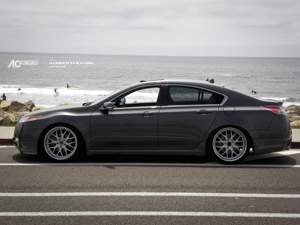 """STANCED ACURA TL 