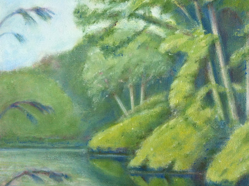 Detail of Reflections (Oil Bar Painting as of August 20) by randubnick