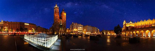 Cracow under the stars