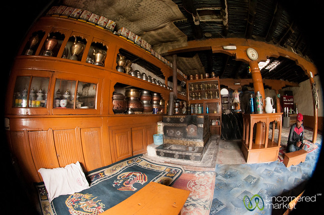 Fisheye View Inside Ladakhi House - Yurutse, Ladakh