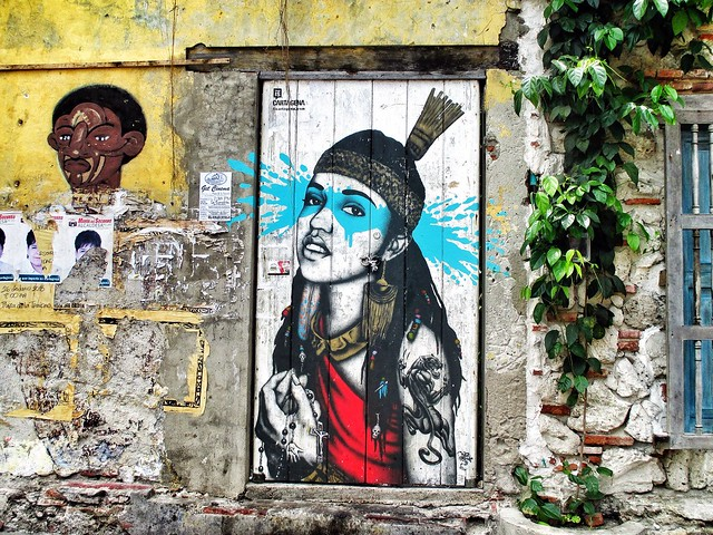 Young Indian boy graffiti