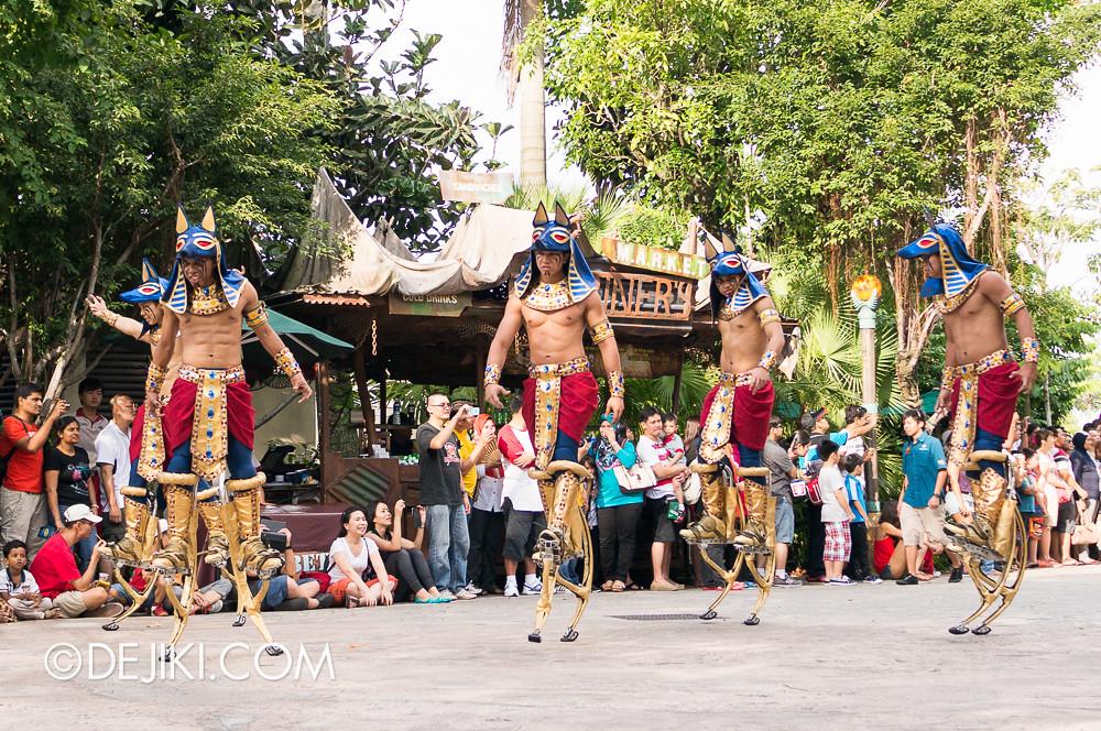Universal Studios Singapore - Hollywood Dreams Parade - Ancient Egypt - Anubian Warriors