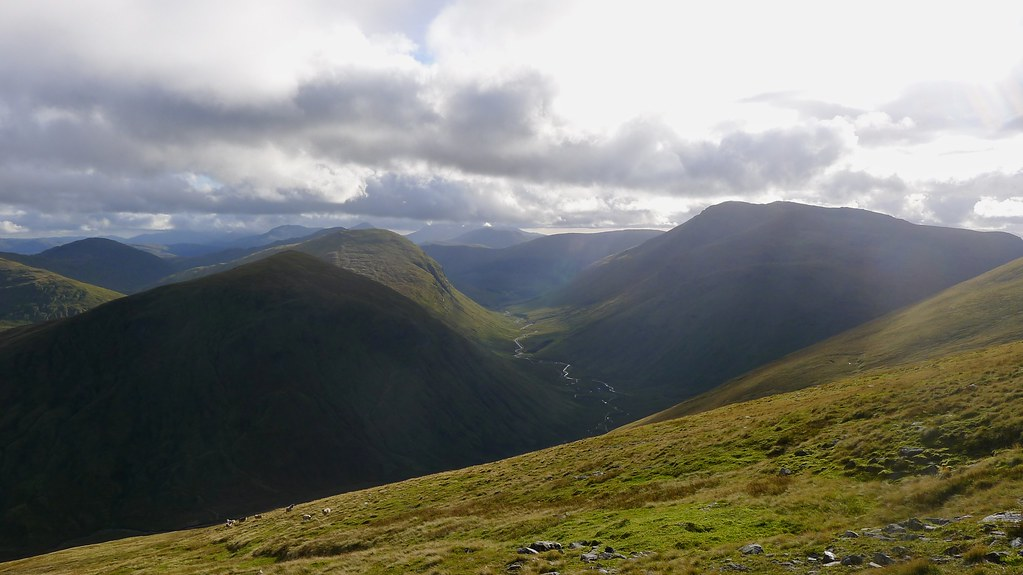 The Auch Glen from Beinn Mhanach