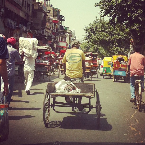 Packer gear gets around apparently. #greenbaypackers #olddelhi #india #youcantakethegirloutofwiscobut...