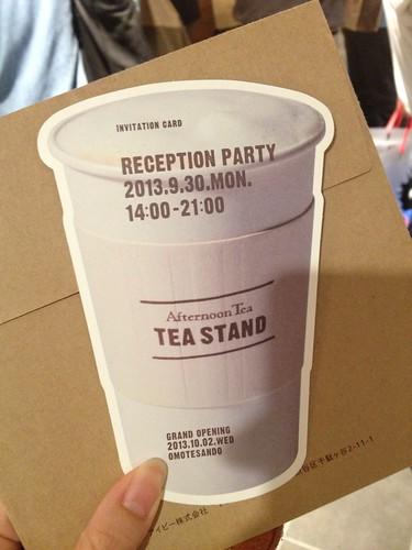 レセプションパーティ@Afternoon Tea TEASTAND