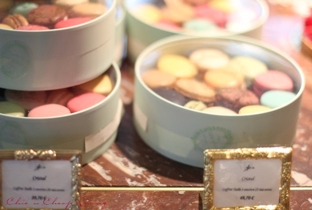 Paris Laduree macarons round box by Chic n Cheap Living