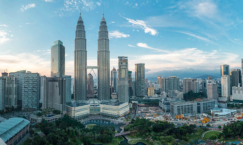 Petronas Towers Sunset Panorama by Luke Robinson