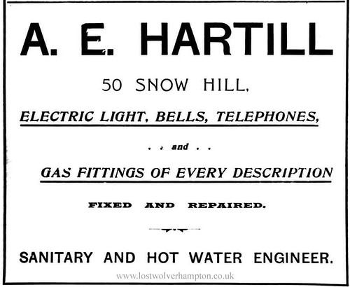 Mr. A.E. Hartill Plumbing and heating engineer.