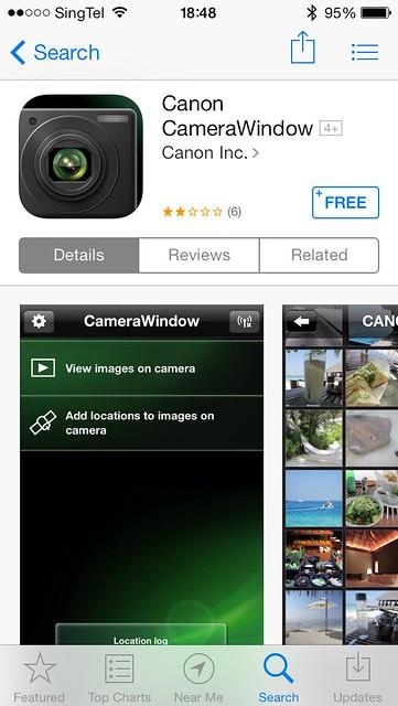 Canon Camera Window iOS App