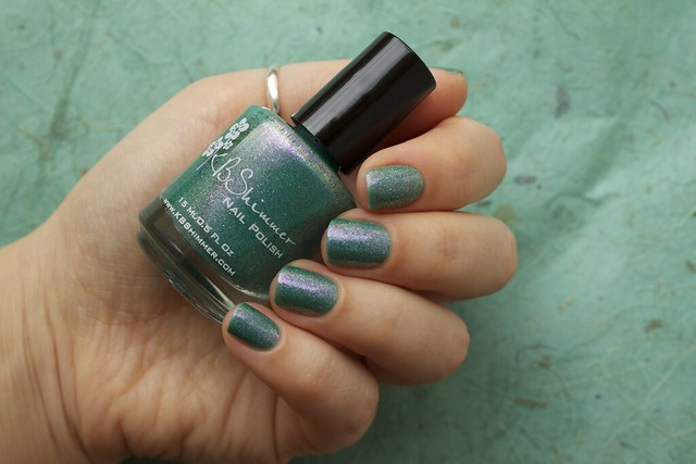 07 KBShimmer Teal Another Tail with 2 coats Eva Mosaic topcoat