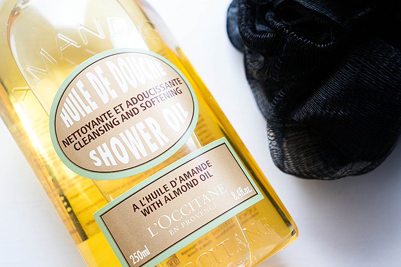 Pampering Shower Time: L'Occitane Almond Shower Oil | www.latenightnonsense.com