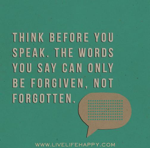To Speak, or Not To Speak