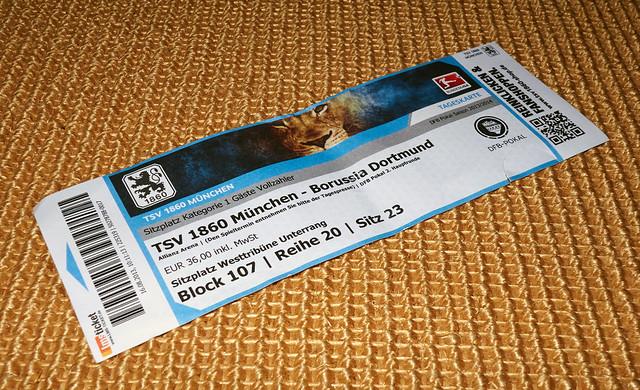 soccer ticket tsv 1860 muenchen vs bvb dortmund 09 flickr photo sharing. Black Bedroom Furniture Sets. Home Design Ideas