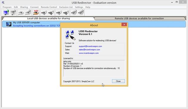 USB Redirector 6.1