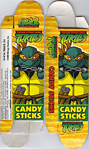 WORLD Confections :: COMIX MIX CANDY STICKS vi / ..'Michelangelo' box  (( 2008 ))