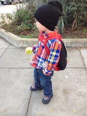 Kelvin's first day of pre-preschool