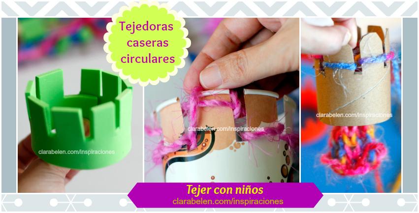tejedoras caseras circulares para niños
