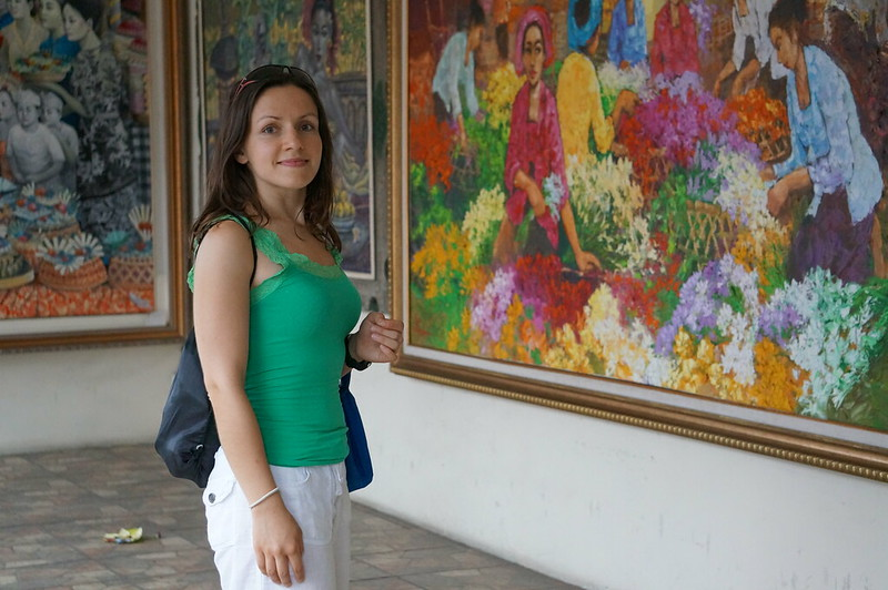 One of the numerous art galleries in Ubud, Bali