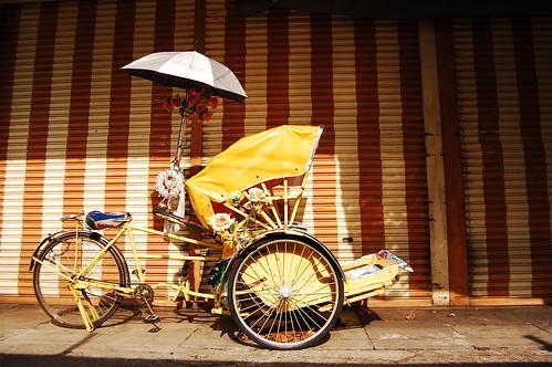 Rickshaw in Penang Malaysia