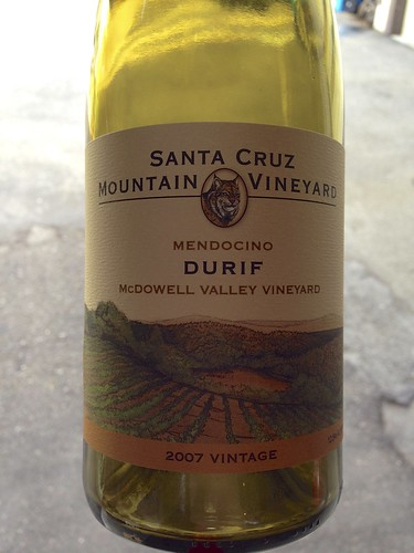 2007 Santa Cruz Mountain Vineyards McDowell Valley Vineyard Durif