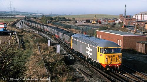 train diesel railway britishrail southyorkshire freighttrain class56 56060 carcroft skellowjunction
