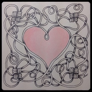 Zentangle® Inspired Art : Tied Up in Knots