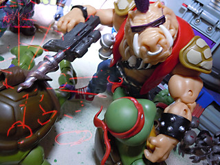 TEENAGE MUTANT NINJA TURTLES - CLASSIC COLLECTION :: ROCKSTEADY & BEBOP { tOkKustom Punk touch-ups } xxv //  ..SHELL DRILL ATTACK  (( 2013 ))