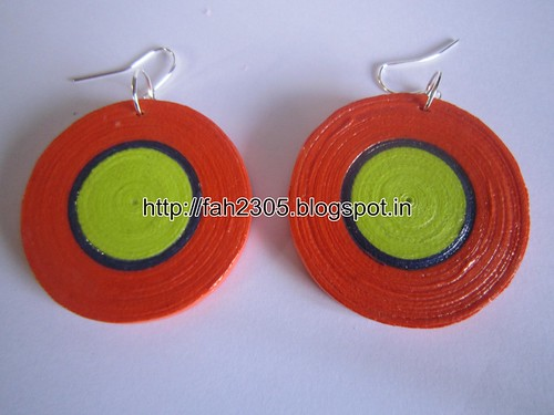 Handmade Jewelry - Paper Quilling Disk Earrings (6) by fah2305