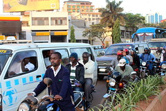Uganda's inadequate road infrastructure has been blamed from the increased traffic congestion in the country, especially in the captial, Kampala. Credit: Amy Fallon/IPS