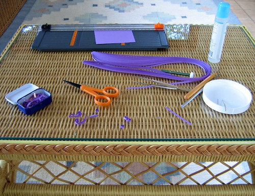 quilling-project-underway