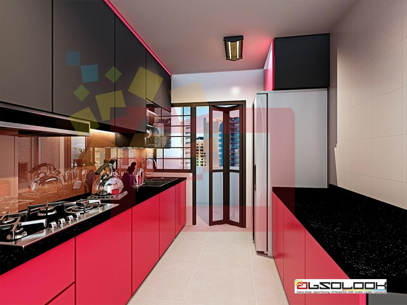 Kitchen designs for hdb bto flats Kitchen door design hdb