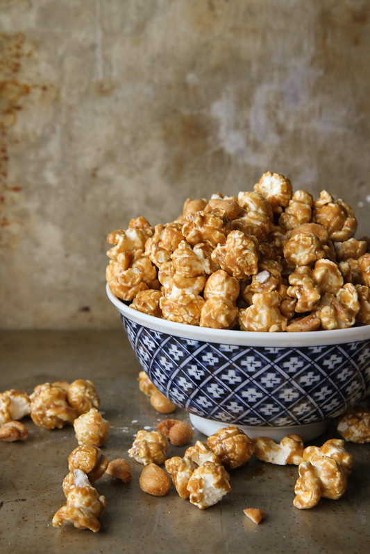 Bourbon Caramel Corn with Honey Roasted Peanuts
