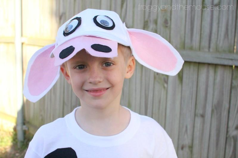 easy kids cow costume