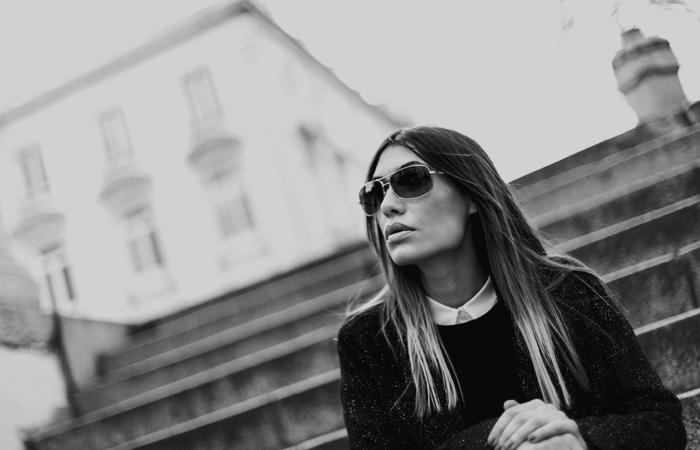 street style barbara crespo zara chained boots black fashion blogger outfit blog de moda