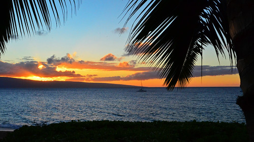kaanapali ocean inn sunset maui hawaii vacation beach water november