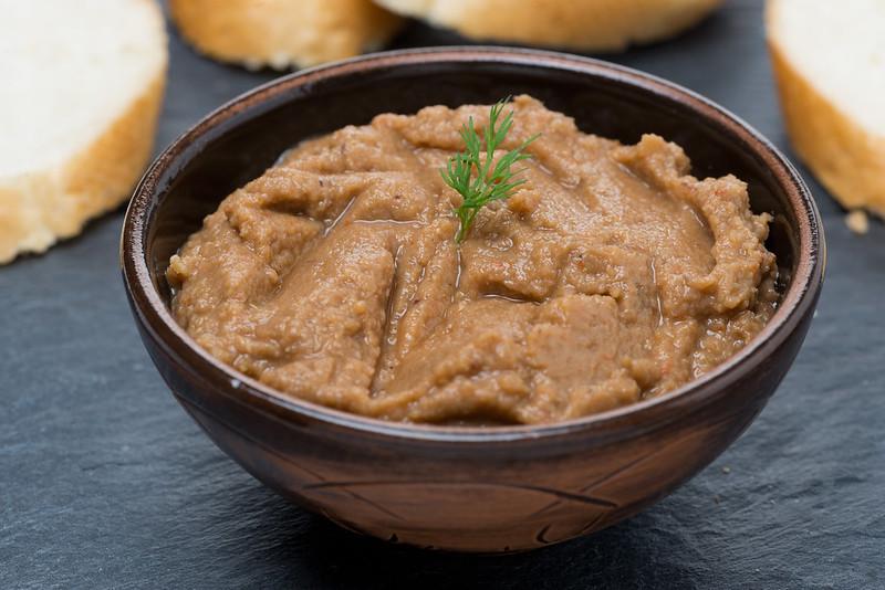 lentil pate in a bowl